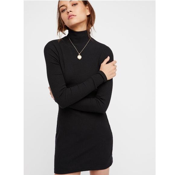Free People Dresses & Skirts - Around Town Turtle neck dress NWT (Black)